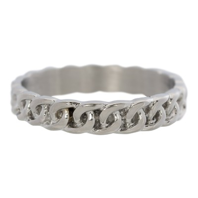 iXXXi Curb Chain Ring Zilver 4mm