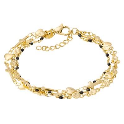 IXXXI Armband Ghana Black Beads Goud