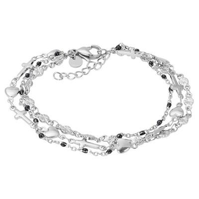 IXXXI Armband Ghana Black Beads Zilver