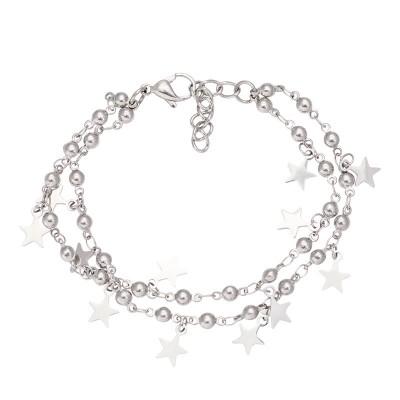 IXXXI Dazzling Stars Enkelband Zilver