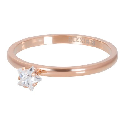 iXXXi Triangle Crystal Stone Rose 2mm