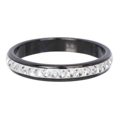 iXXXi Ring Zirkonia Crystal Black Ceramic - R3701-5