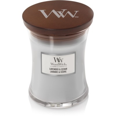 Woodwick Lavender & Cedar Candle Medium