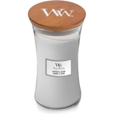 Woodwick Lavender & Cedar Large Candle