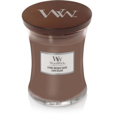 Woodwick Stone Washed Suede Candle Medium