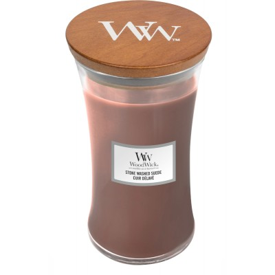 Woodwick Stone Washed Suede Large Candle