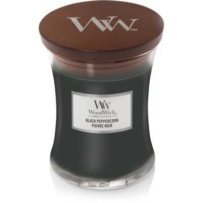 Woodwick Black Peppercorn Candle Medium