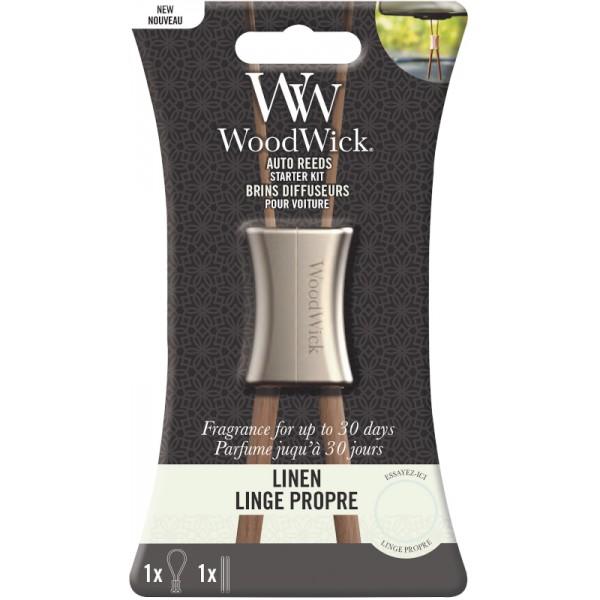 Woodwick Auto Reed Starterskit Linen