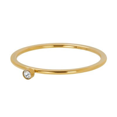 iXXXi Ring Zirkonia 1 Stone Crystal Goud R3905-01