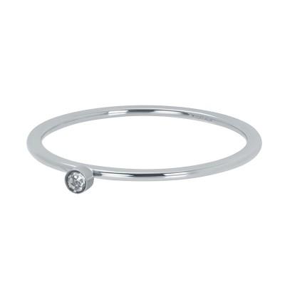 iXXXi Ring Zirkonia 1 Stone Crystal Zilver R3905-03