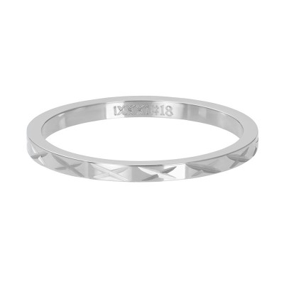 iXXXi ring X Row Zilver 2mm