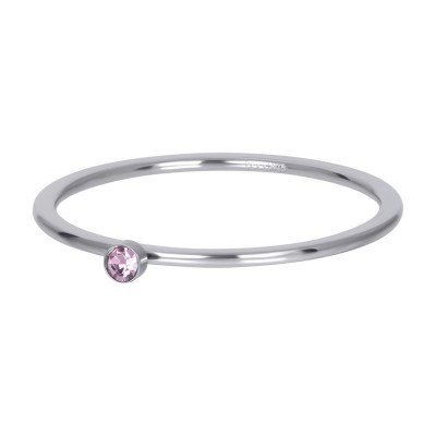 iXXXi ring Pink 1 Stone Crystal 1mm zilver