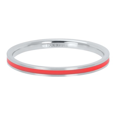 iXXXi ring Line Red 2mm