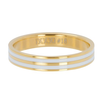 iXXXi Double Line White Goud 4mm