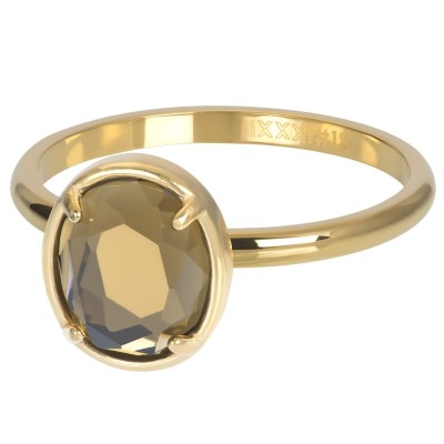 iXXXi Royal Glam Oval Topaz goud 2mm