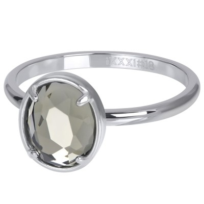 iXXXi Glam Oval Crystal zilver 2mm