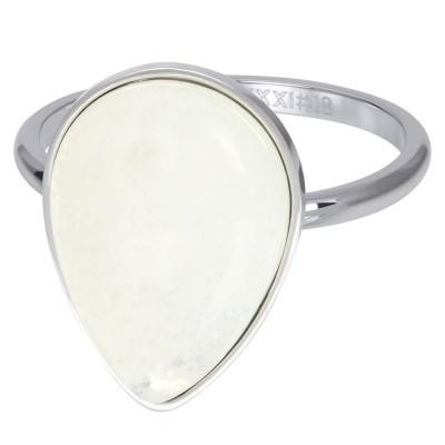 iXXXi Royal Stone Drop White zilver 2mm