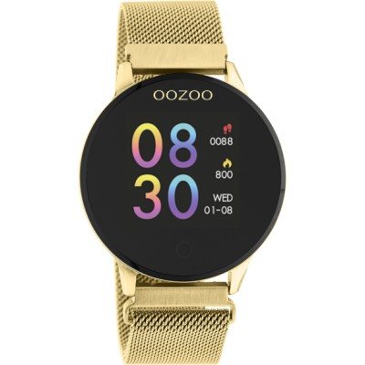 OOZOO Smartwatch Zwart/Goud 43mm Q00120