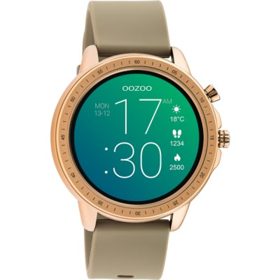 OOZOO Smartwatch Taupe/Rose 45mm Q00302