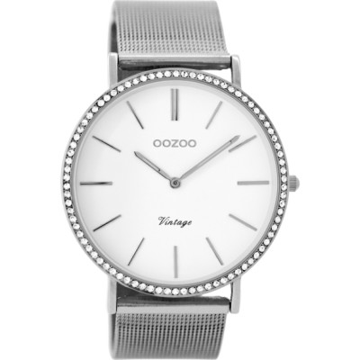 OOZOO Vintage horloge Zilver 40mm