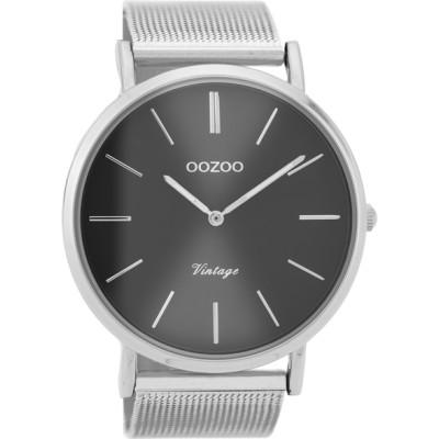 OOZOO Vintage horloge Zilver 44mm C9936
