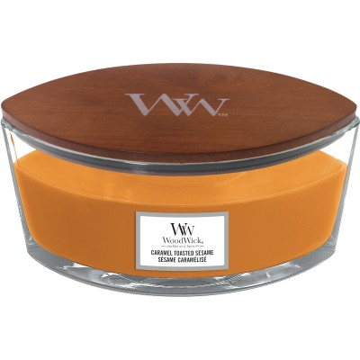 Woodwick Caramel Toasted Sesame Candle Ellips