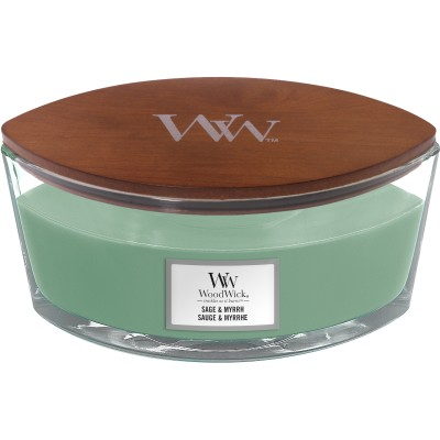 Woodwick Sage & Myrrh Candle Ellips
