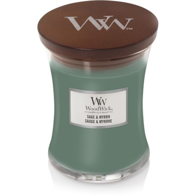 Woodwick Sage & Myrrh Candle Medium