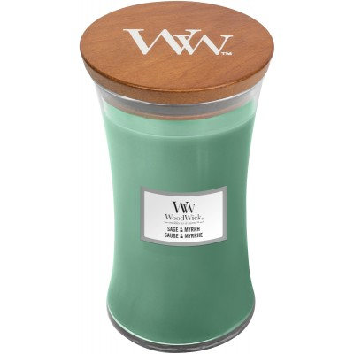 Woodwick Sage & Myrrh Large Candle