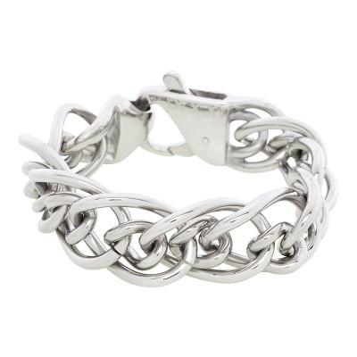 iXXXi Stalen armband brede schakel Silver