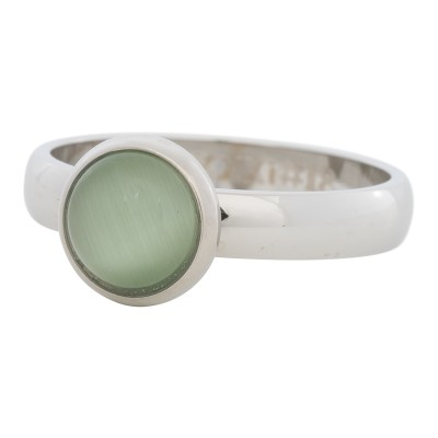 iXXXi Ring Green Cat Eye Stone Zilver R4307-3