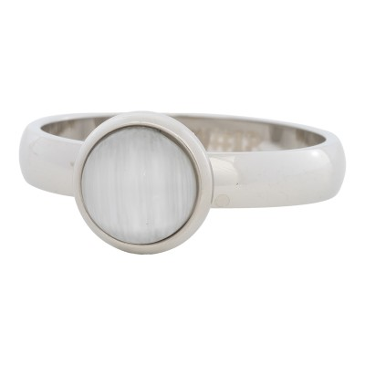 iXXXi Ring White Cat Eye Stone zilverR4308-3