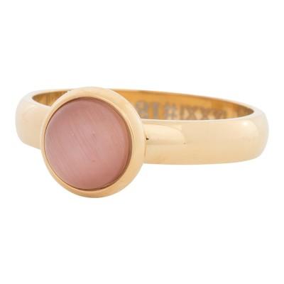 iXXXi Ring Pink Cat Eye Stone GoudR4309-1
