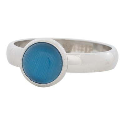 iXXXi Ring Blue Cat Eye Stone ZilverR4306-3