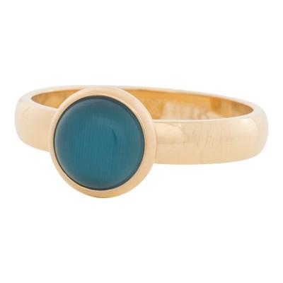 iXXXi Ring Blue Cat Eye Stone GoudR4306-1