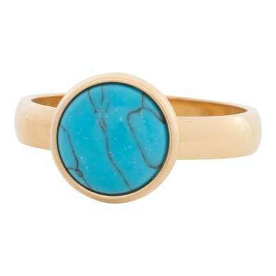 iXXXi Ring Blue Turquoise Stone Goud R4303-1