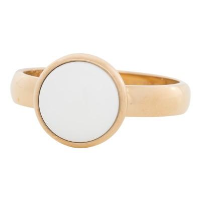iXXXi Ring White Stone Goud 4302-1