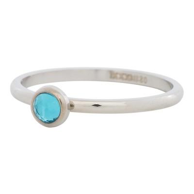 iXXXi Ring Zirconia Water Blue Zilver R4104-3