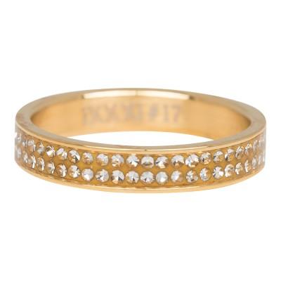 iXXXi Ring Double Zirkonia Goud R3704-1