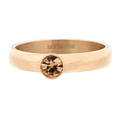 iXXXi Ring Zirconia Stone Champagne Diamond Rose R3004-2