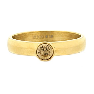 iXXXi Ring Zirconia Stone Topaz Diamond Goud R3004-1