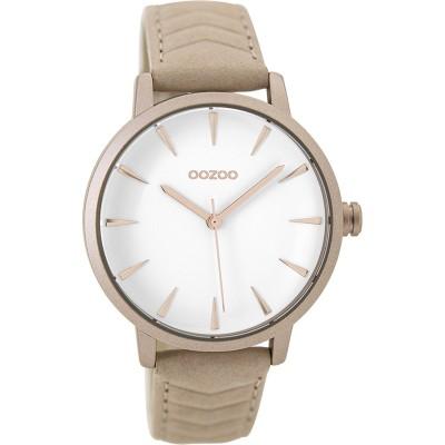 OOZOO Timepieces horloge Taupe 40mm