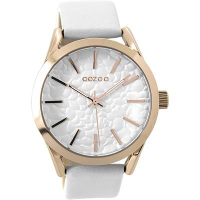 OOZOO Timepieces horloge Wit 43mm