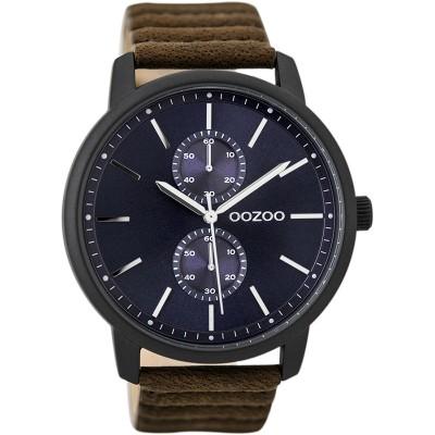 OOZOO Timepieces horloge Bruin/Blauw 45mm